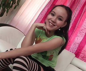 Hot Teen Amai Liu Sucks Cock like a Pro on Casting Couch
