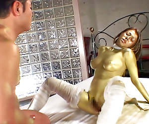 Voluptuous milf enjoys cock during bondage porn show