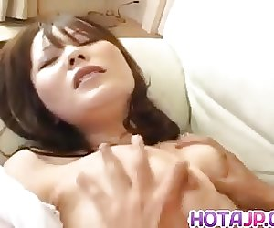 Sayaka Minami has big cans fondled and dark cunt filled with
