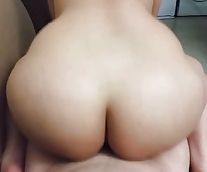Asian booty riding