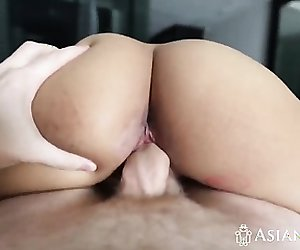 Morning POV fucking with busty Asian with big ass
