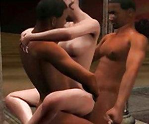 Brunette hentai nympho gets fuck Video 2