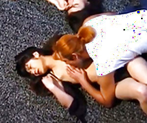 Japanese AV Model and gals are fucked in mouths and slits in orgy