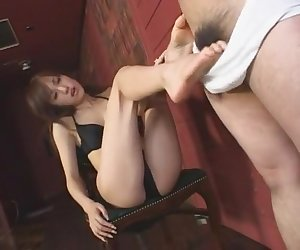 Amazing Japanese whore Arisa Kanno in Hottest Foot Job, Femdom JAV video